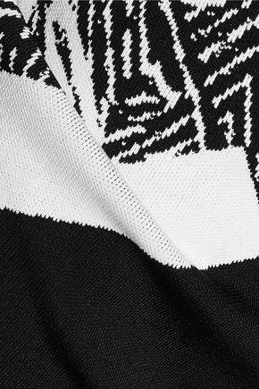 ROLAND MOURET Archel intarsia-knit pencil skirt