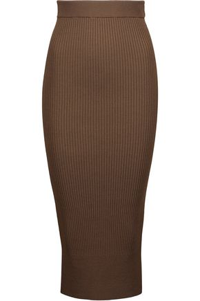BY MALENE BIRGER Kamma ribbed-knit midi skirt