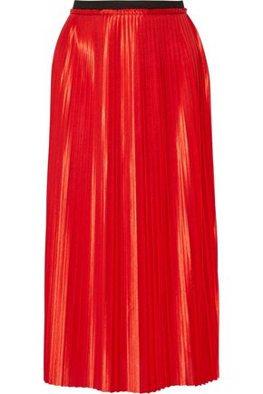 BY MALENE BIRGER Miqiau pleated satin midi skirt