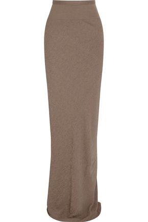 RICK OWENS Textured-crepe maxi skirt