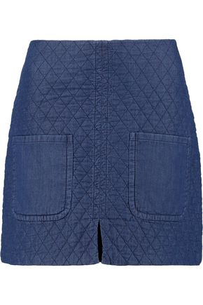 SEE BY CHLOÉ Quilted cotton mini skirt