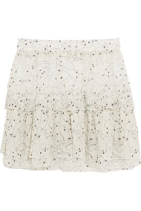 SEE BY CHLOÉ Ruffled printed chiffon mini skirt