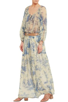 PHILOSOPHY di LORENZO SERAFINI Printed silk-chiffon maxi skirt