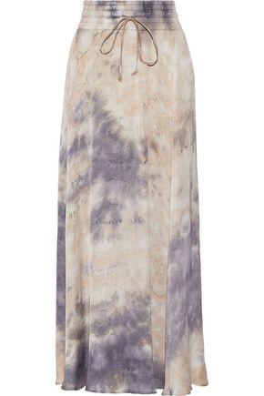 ENZA COSTA Printed satin maxi skirt