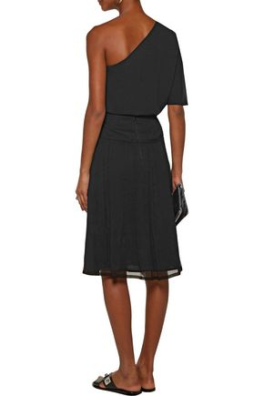 RAQUEL ALLEGRA Gathered crinkled silk-gauze skirt