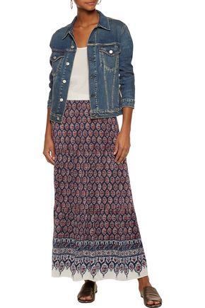 JOIE Gurita B printed silk-voile maxi skirt