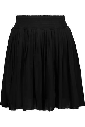 JOIE Pleated crepe mini skirt