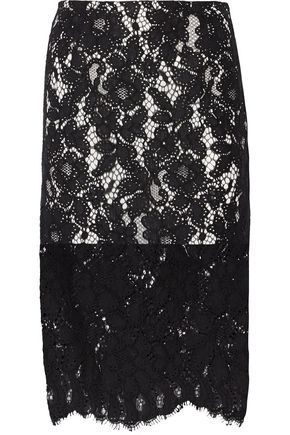SANDRO Kylie corded cotton-blend lace skirt