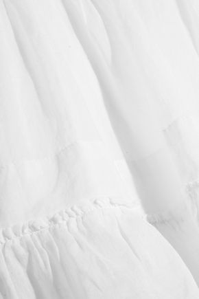 ISABEL MARANT ÉTOILE Noly pintucked cotton-voile mini skirt