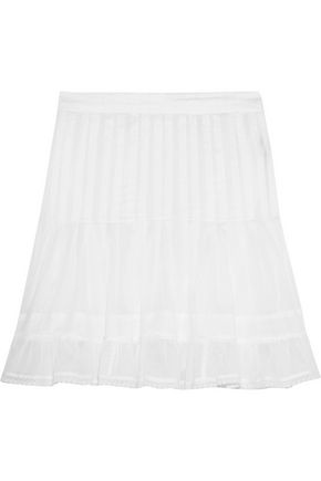ISABEL MARANT ÉTOILE Noly pintucked cotton-voile mini skirt