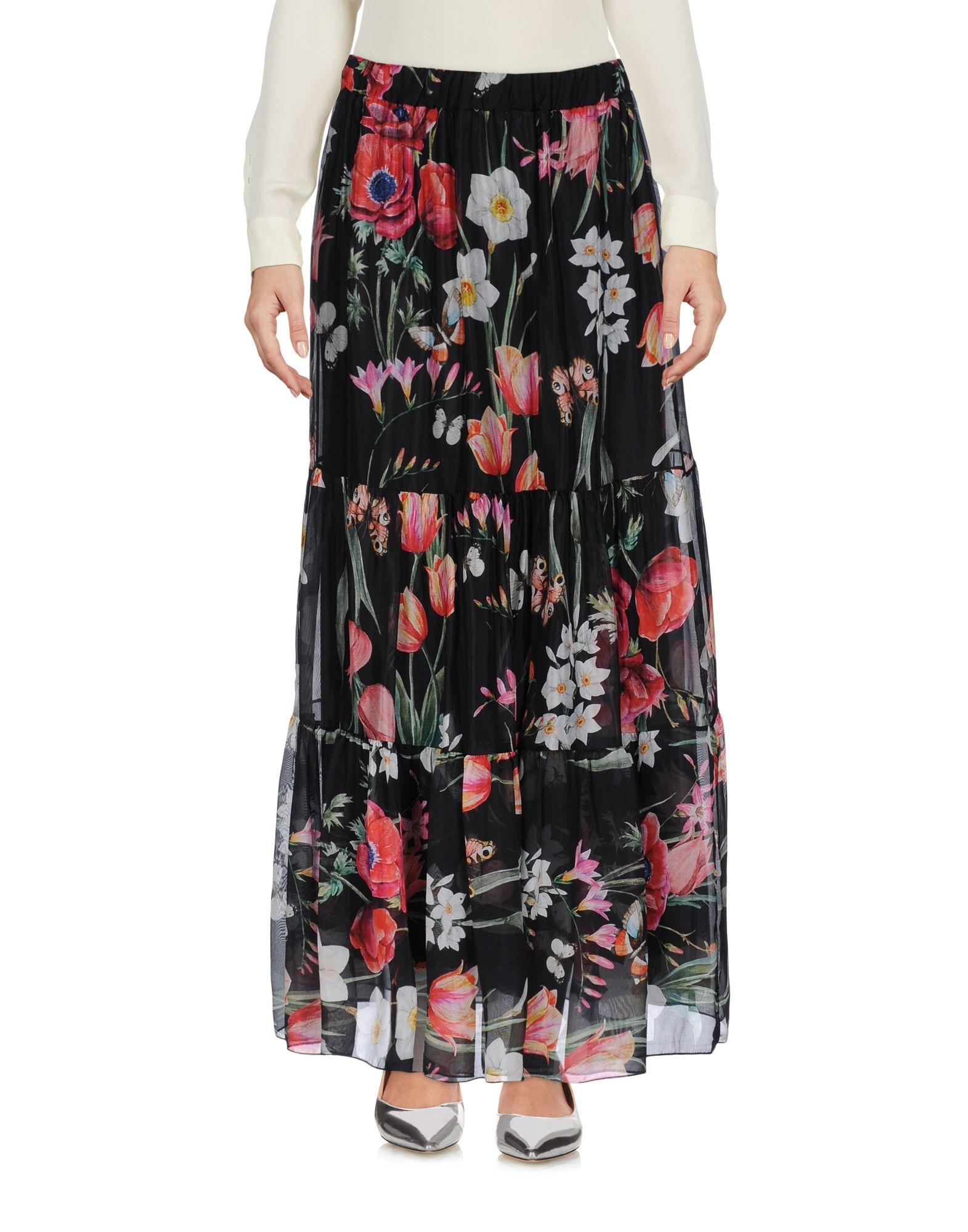 PAOLO CASALINI Длинная юбка брюки paolo casalini цвет чёрный