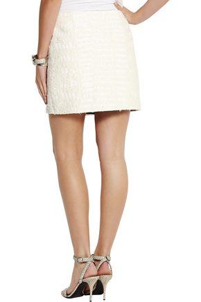 PROENZA SCHOULER Cotton-blend bouclé wrap mini skirt