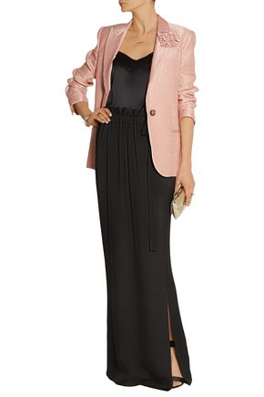 LANVIN Ruched twill maxi skirt