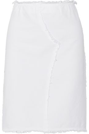 VANESSA BRUNO Cardoue frayed cotton-twill skirt