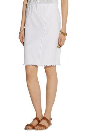 VANESSA BRUNO Cardoue frayed cotton-twill skirt