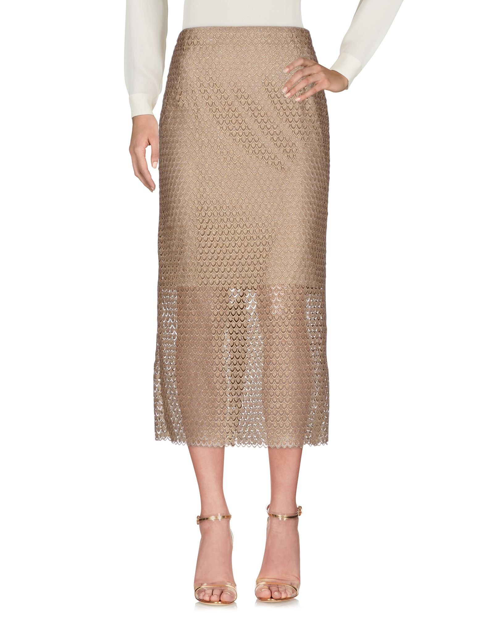 MELAMPO Maxi Skirts in Gold