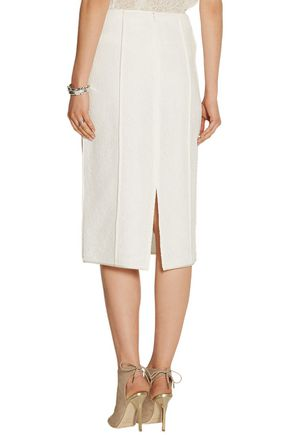 JASON WU Contrast-trim lace midi skirt