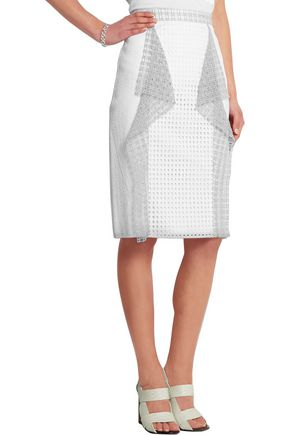 3.1 PHILLIP LIM Ruffled broderie anglaise cotton skirt