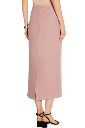 TIBI Wool-bouclé midi skirt