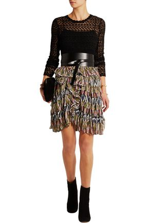 ISABEL MARANT Poyle printed silk-georgette mini skirt