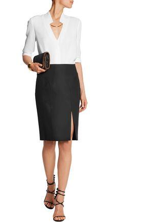JOSEPH Super 100 wool-twill skirt