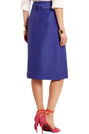 J.CREW Collection wool and silk-blend faille skirt