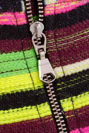 HOUSE OF HOLLAND Gina striped jacquard mini skirt