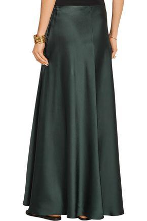 THE ROW Afrol hammered-satin maxi skirt