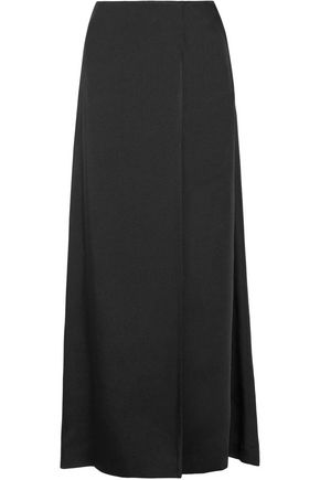 HELMUT LANG Wrap-effect satin-twill maxi skirt