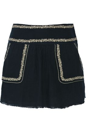 ISABEL MARANT ÉTOILE Vittoria embroidered cotton-gauze mini skirt