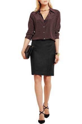JOSEPH Clara wool-twill pencil skirt