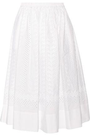 VANESSA BRUNO Edeia broderie anglaise cotton midi skirt