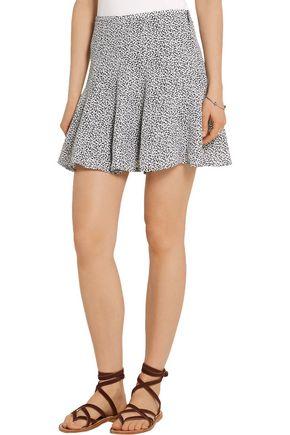 MICHAEL MICHAEL KORS Printed silk-crepe mini skirt