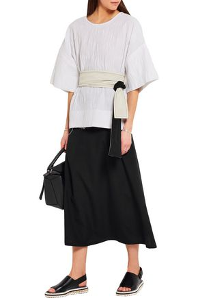LEMAIRE Wool-crepe skirt