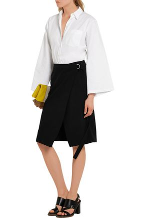 MICHAEL KORS COLLECTION Wrap-effect wool skirt