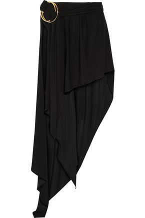 ANTHONY VACCARELLO Layered stretch-jersey maxi skirt