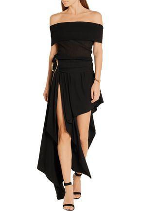 ANTHONY VACCARELLO Layered stretch-jersey maxi skirt