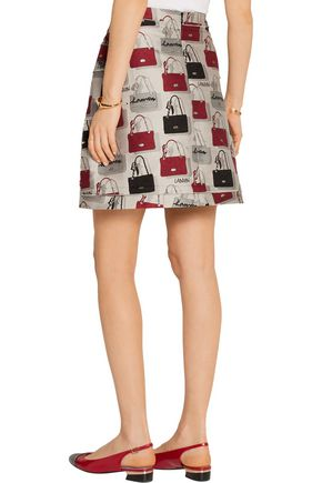 LANVIN Cotton-blend jacquard mini skirt