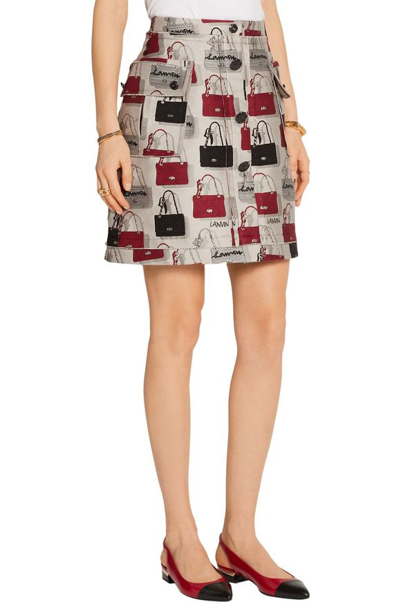 Cotton-blend jacquard mini skirt | LANVIN | Sale up to 70% off | THE OUTNET