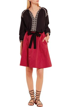 VANESSA BRUNO Everett brushed cotton-blend skirt