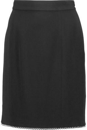 ALEXANDER WANG Embellished knitted mini skirt