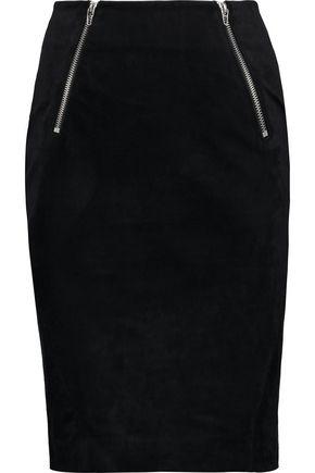 T by ALEXANDER WANG Cotton-blend velvet skirt