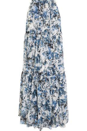 ERDEM Sigrid floral-print silk-georgette maxi skirt