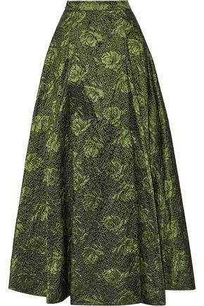 ALICE+OLIVIA Carey pleated brocade maxi skirt