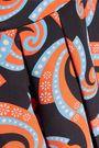 HOLLY FULTON Pleated printed silk skirt