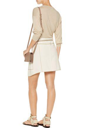 ISABEL MARANT Liam asymmetric wrap-effect cotton mini skirt