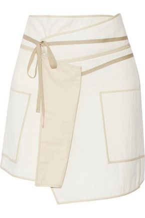 ISABEL MARANT Liam asymmetric wrap-effect cotton mini skirt