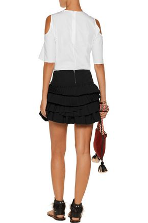 ISABEL MARANT Irisa tiered linen-blend mini skirt