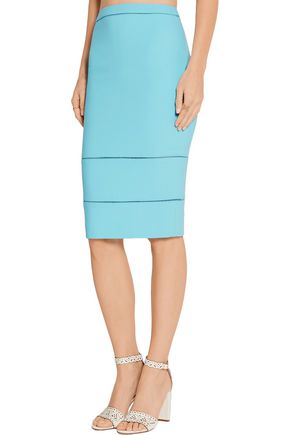 ELIZABETH AND JAMES Wheeler pointelle-trimmed stretch-cady skirt