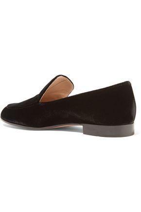 GIANVITO ROSSI Velvet loafers